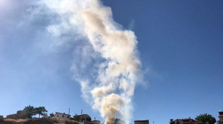 Avanos'ta metruk alanda yangın çıktı