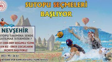 Nevşehir Sutopu takımı yeni oyuncularını arıyor