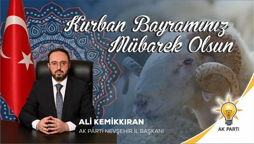 AK Parti İl Başkanı Kemikkıran, Kurban Bayramı'nı kutladı