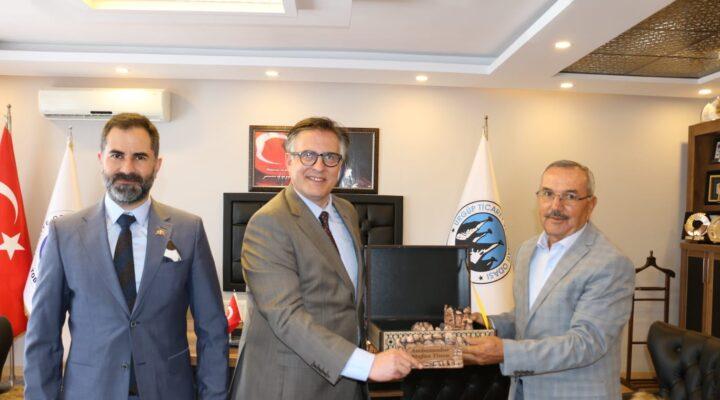 Ürgüp Ticaret Odası Başkanı Aydın, Büyükelçi Tinca'yı ağırladı