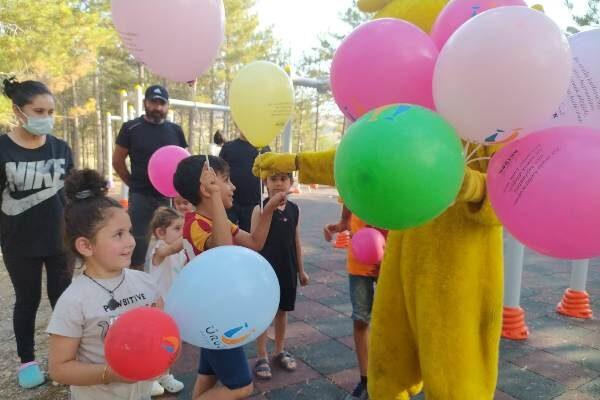 Damsa Barajında çocuklar gönüllerince eğlendi