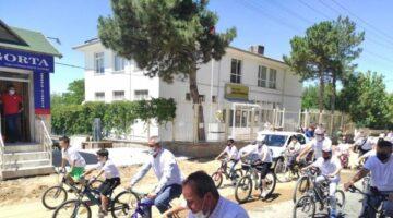 Hacıbektaş'ta bisiklet sürme etkinliği düzenlendi