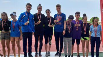 Nevşehir Belediyespor Atletizm sporcuları Mersin'den şampiyonlukla dönüyor