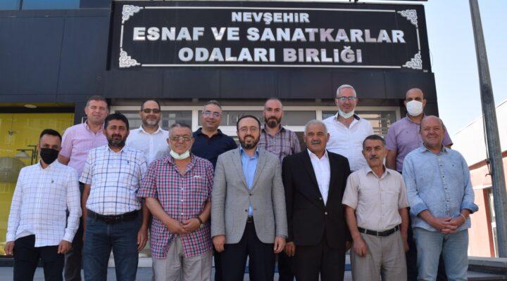 AK Parti heyetinden Esnaf ve Sanatkarlar Odaları Birliği'ne ziyaret