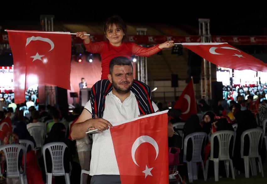 Nevşehir 15 Temmuz Demokrasi Zaferi'nin 5.yıldönümünde tek yürek