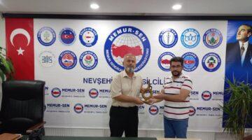 Memur-Sen Nevşehir il Başkanlığını ziyaretler