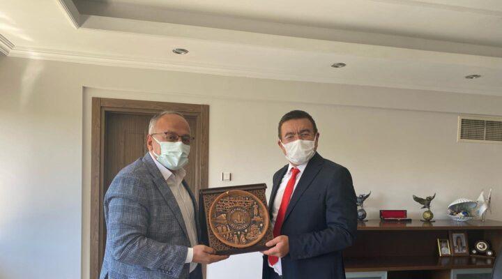 Aksoy MEDAŞ genel müdürünü ziyaret etti
