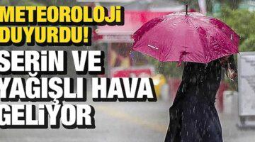 Nevşehir'e serin ve yağışlı hava geliyor
