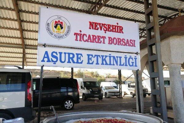Nevşehir Ticaret Borsası zahire pazarında aşure dağıttı
