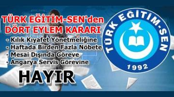 Türk Eğitim Sen'den dört eylem kararı