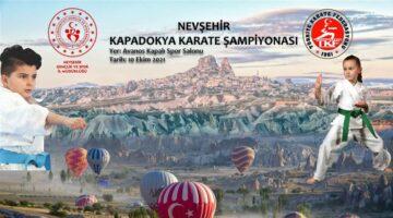 Kapadokya Karate şampiyonası 10 Ekim'de yapıldı