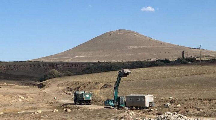 Goble Deresi'nde gölet yapımına başlandı