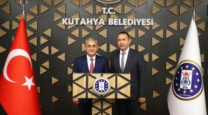 Başkan İbaş, Kütahya belediye başkanını ziyaret etti