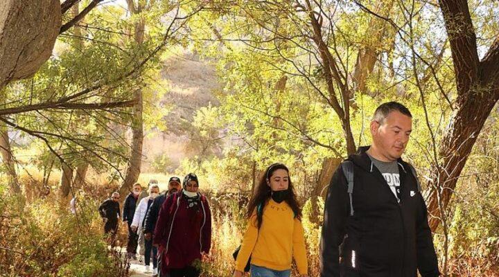 Gomeda vadisinde yürüyüş etkinliği yapıldı